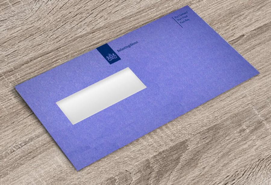 Loonheffing Belastingdienst blauwe envelop